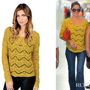 Ella Moss | Yellow Kasia Crocheted Sweater